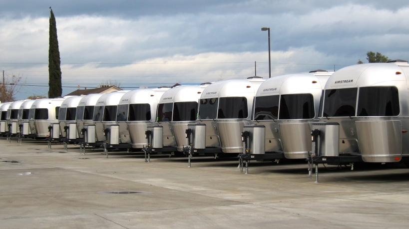 Lots of Airstreams