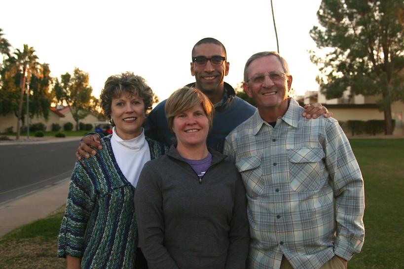 Sandy, Kelly, me, & Gene