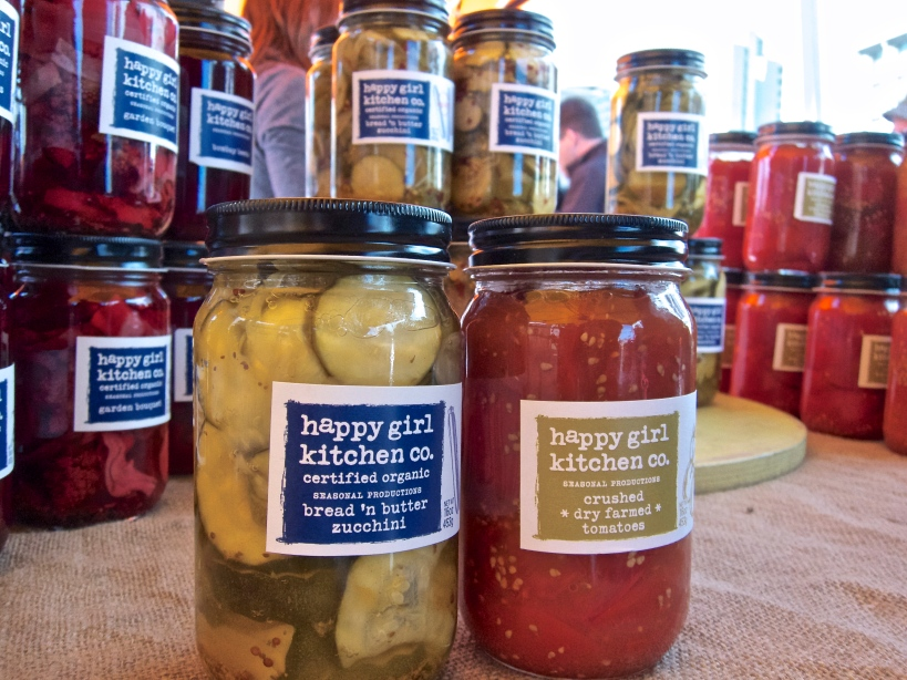 Our pickled zucchini and tomato sauce from Happy Girl Kitchen