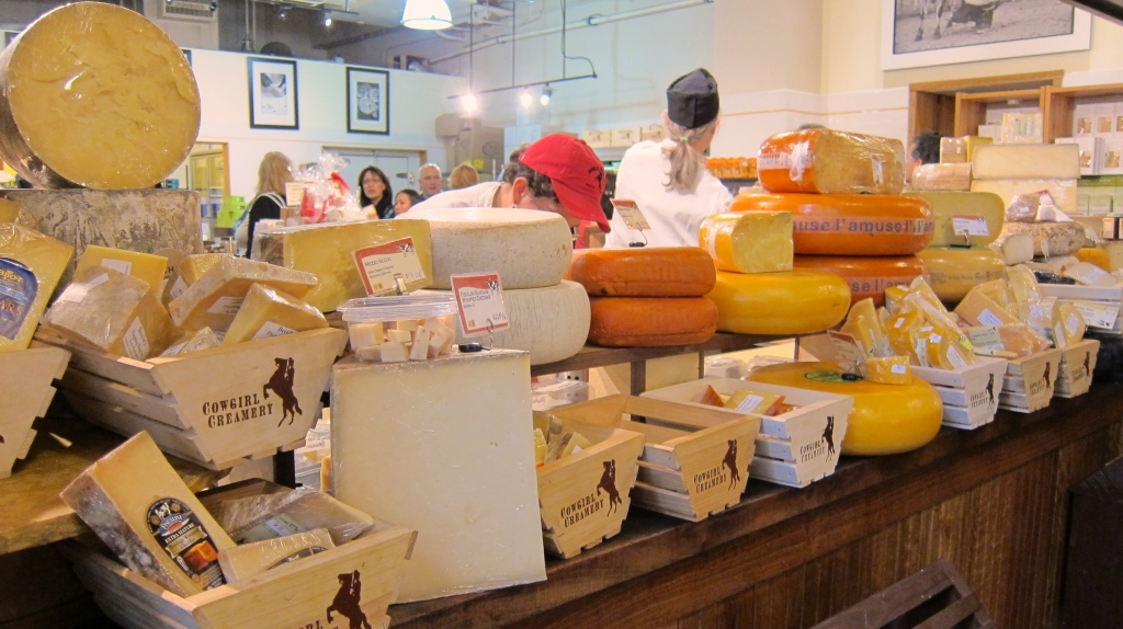 Some of the cheese goodness at Cowgirl Creamery