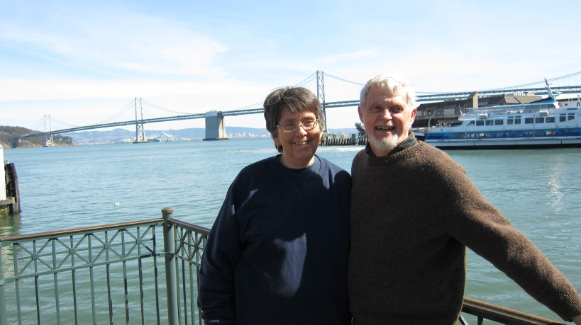Mom and Ed at the Ferry Building