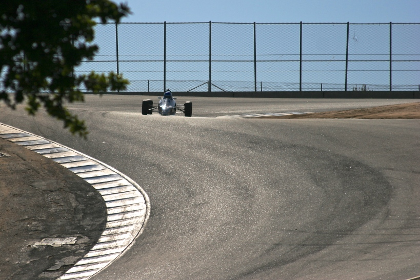 Tim entering the corkscrew
