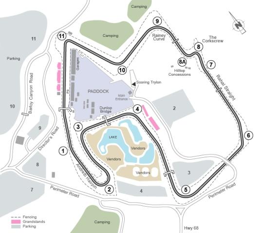 Raceway map