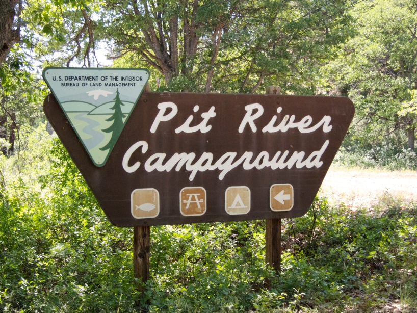 Pit River Campground entrance sign