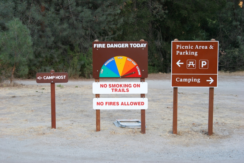 fire danger is high