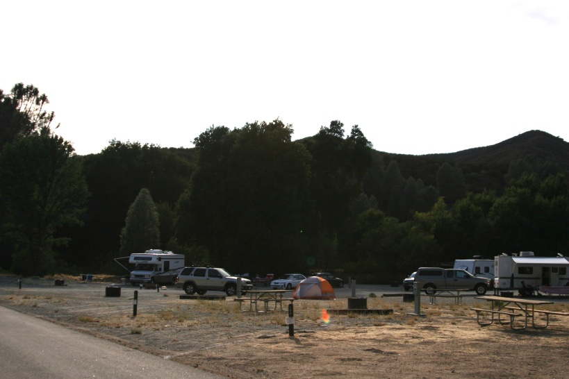 Saturday, the campground beginning to fill