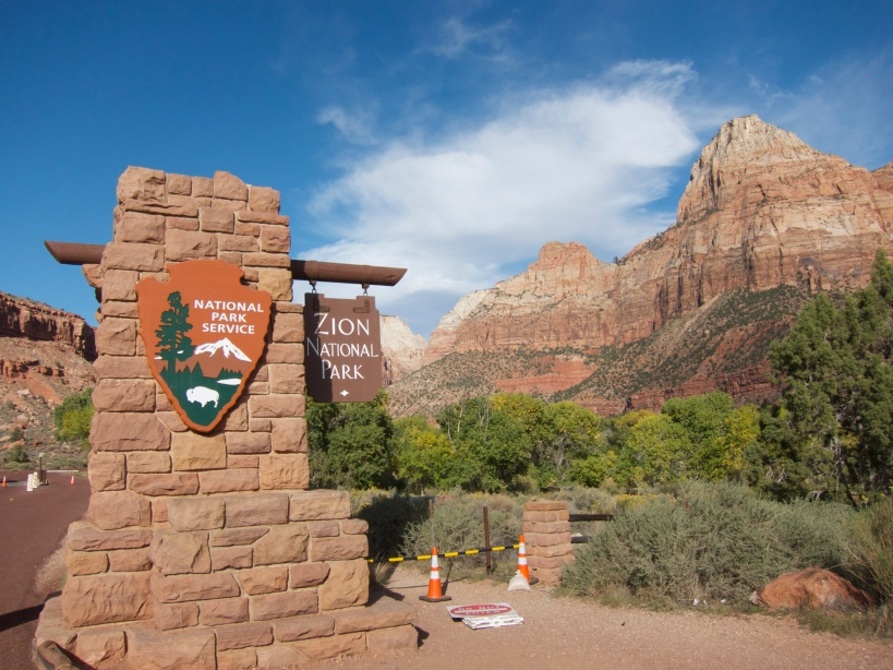 Entering Zion National Park