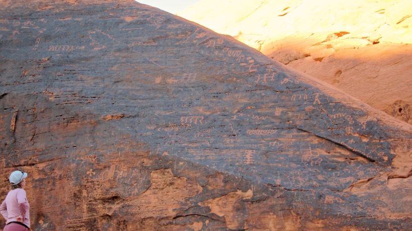 Petroglyph markings