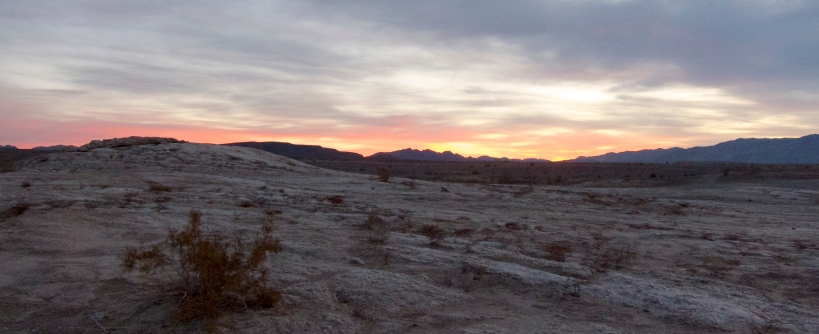 Typical desert sunset during our visit