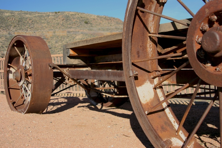 Heavy industrial equipment replaced the mule drawn carts