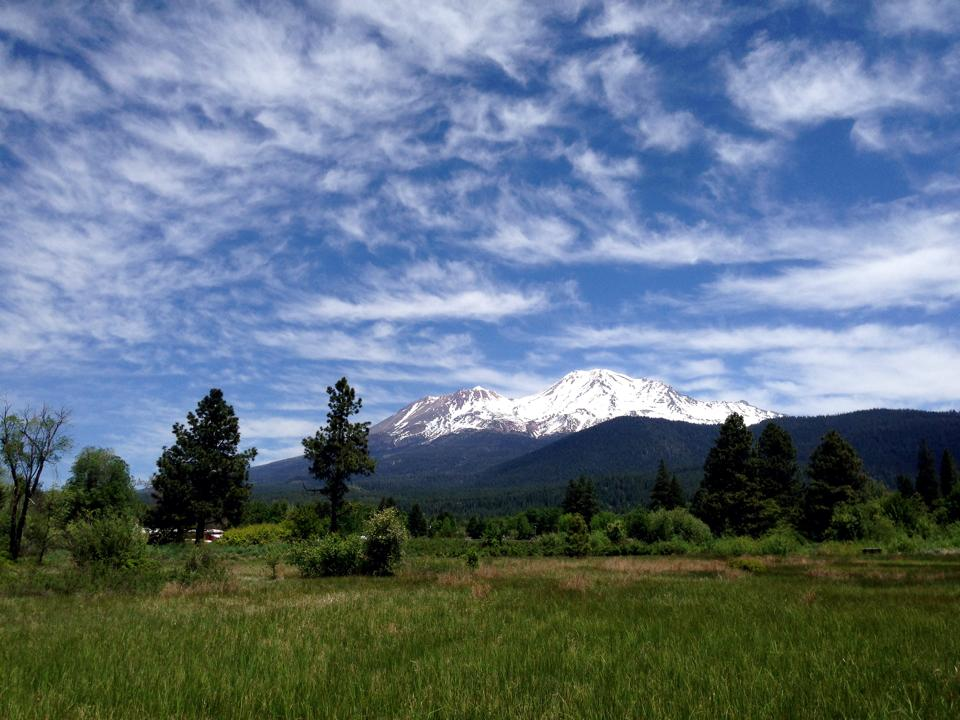 Looking east towards Mt Shasta