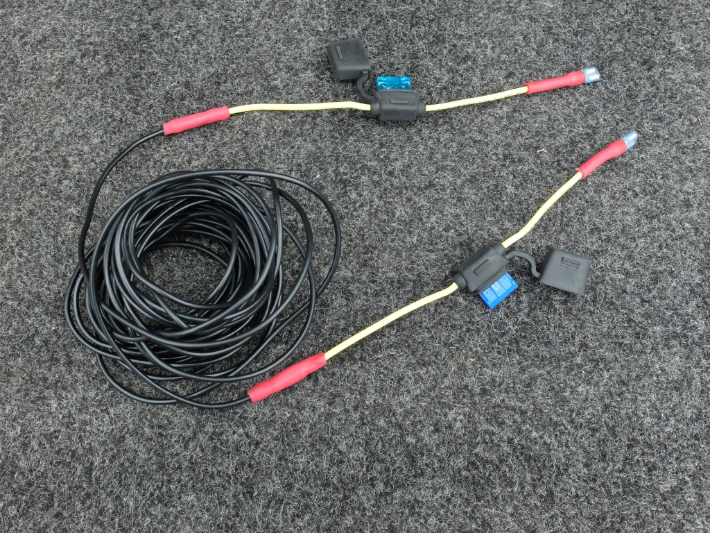 Positive cables prepped