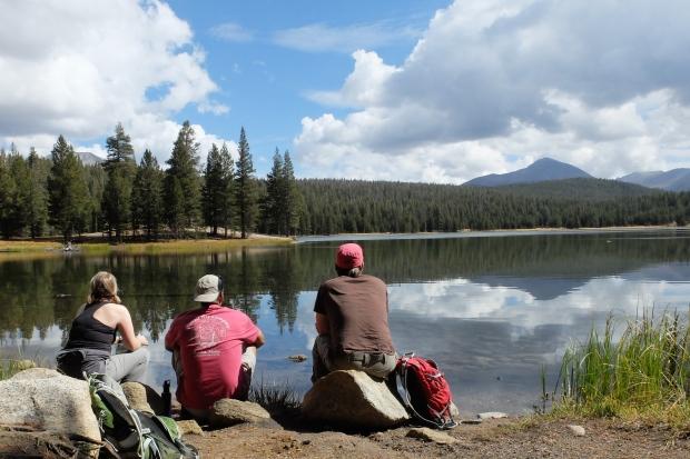 Kelly, Chris, and me wishing we had Kayaks