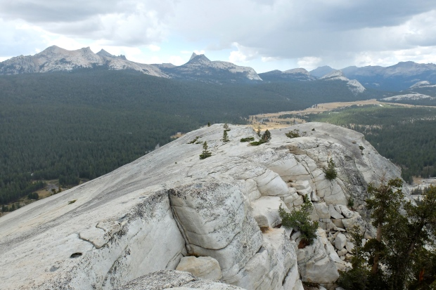 Overlooking Tuolumne Meadow from the top of Lambert Dome