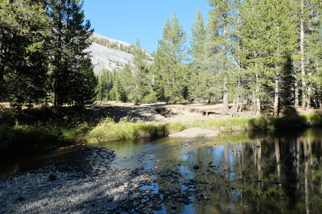 Tuolumne River, Lambert Dome in the distance