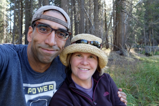 Dave / Kelly selfie at Tuolumne River