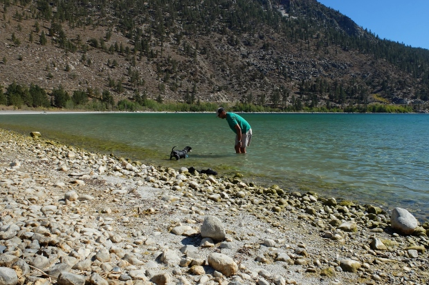 Playing with Lilly in June Lake