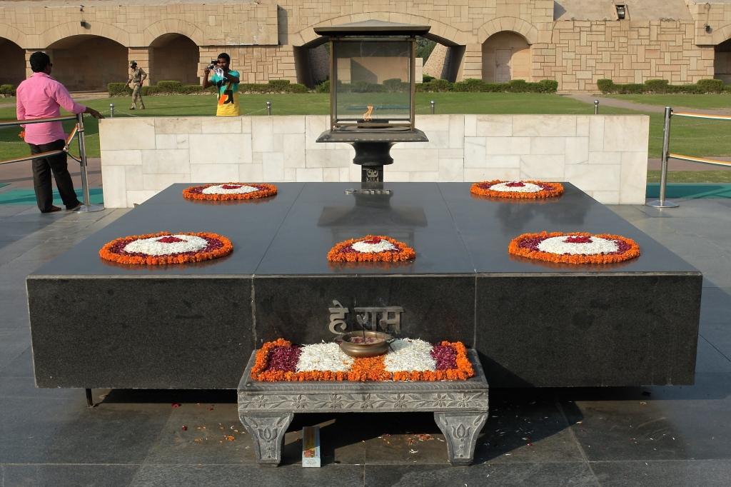 Raj Ghat - site of Gahndi's cremation
