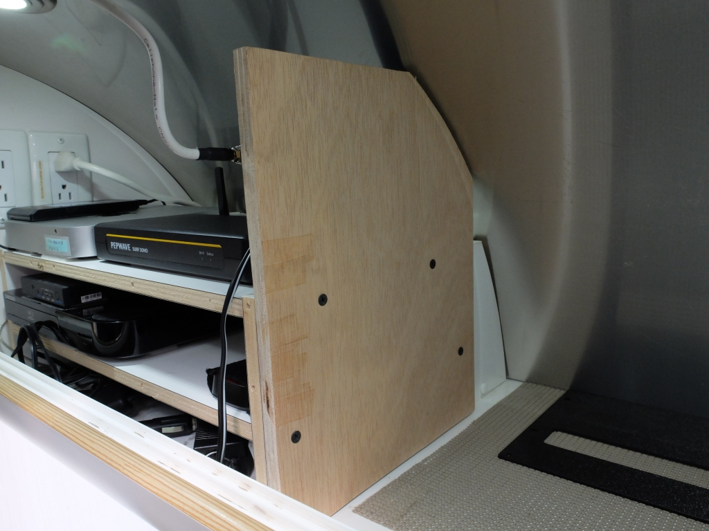 A piece of wood was added as a mounting plate